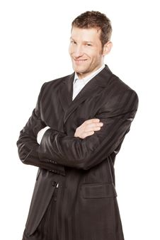 Free Businessman With Arms Crossed Royalty Free Stock Photo - 29008735