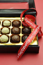 Free Love Theme Box Of Chocolates, Vertical. Royalty Free Stock Photo - 29013395