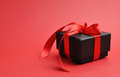 Free Beautiful Black Box Gift, Horizontal With Copy Space. Stock Image - 29013641