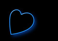 Free Neon Heart Shaped Royalty Free Stock Photos - 29016238