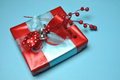 Free Red And Blue Festive Present Gifts Stock Photo - 29016310