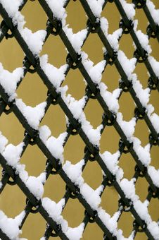 Old Fashioned Metal Fence Stock Photo