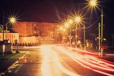 Free Night Traffic Light Royalty Free Stock Images - 29012719