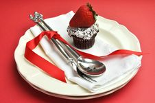 Free Red Theme Formal Dinner Table Setting. Royalty Free Stock Image - 29016066