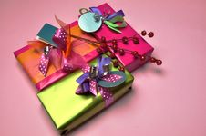 Free Bright Color Festive Present Gifts Royalty Free Stock Photos - 29016288