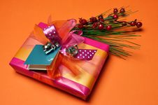 Free Pink And Orange Festive Present Gifts Royalty Free Stock Image - 29016336