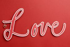 Free The Word, LOVE, In Letters On A Red Background Royalty Free Stock Images - 29018569