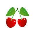 Free Two Cherry On A White Background Stock Photo - 29025530