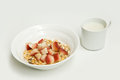 Free Cereal With Fruit And Soy Milk Royalty Free Stock Photos - 29025708