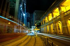 Downtown Hong Kong At Night Stock Photos