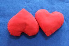 Free Heart-shaped Pillows Stock Photo - 29029820