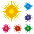 Free Set Of Abstract Dot Sun Stock Photography - 29033742