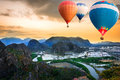 Free Hot Air Balloons Floating Up To The Sky Royalty Free Stock Photo - 29037145