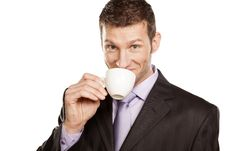 Free Businessman With Coffee Cup Royalty Free Stock Photos - 29032548