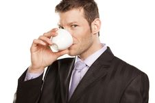 Free Businessman With Coffee Cup Stock Photo - 29032570