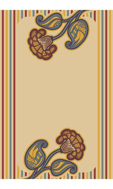 Card With Floral Design. Stock Photography