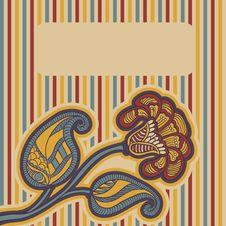 Card With Floral Design. Stock Photos