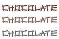 Free Chocolate Word Stock Photos - 29040133