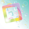 Free Vector Background With Colorful Squares. Royalty Free Stock Photography - 29044587