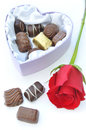 Free Chocolates And Red Rose Stock Photography - 29046412