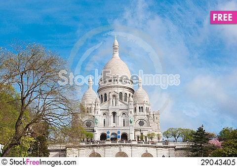 Free Sacre Coeur Basilica, Paris Royalty Free Stock Photo - 29043405
