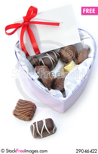 Free Valentines Chocolates Stock Photography - 29046422