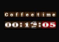Free Coffee Time Clock Royalty Free Stock Photography - 29042117