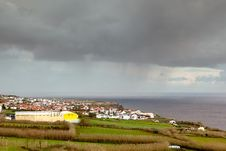 Free Heavy Rain Over Relva City, Azores, Portugal Royalty Free Stock Photography - 29044697