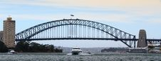 Free Boats Under Harbour Bridge Royalty Free Stock Photography - 29045147