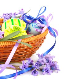 Free Easter Eggs With Flowers Royalty Free Stock Photography - 29045697