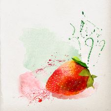 Free Watercolor Strawberry Royalty Free Stock Photo - 29045785