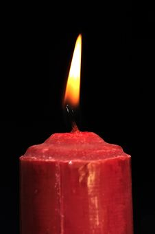 Free Burning Red Candle Royalty Free Stock Photo - 29046325