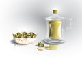 Free Green Olives And Bottle Of Olive Oil Stock Photos - 29052023