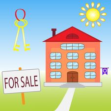 Free House For Sale Royalty Free Stock Images - 29053209