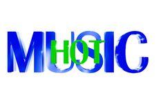 3D Music Hot Stock Image
