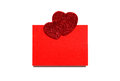 Free Empty Sheet With Two Hearts Royalty Free Stock Photo - 29060015