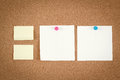 Free Empty Note Papers On Cork Board Stock Image - 29061481