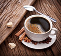 Free Cup Of Coffee With Brown Sugar. Royalty Free Stock Photo - 29064585