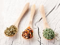 Free Variety Of Spices In The Spoons. Royalty Free Stock Photography - 29065727