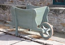 Free Wooden Wheelbarrow. Stock Images - 29063064