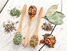 Free Variety Of Spices In The Spoons. Stock Photography - 29066092