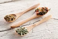 Free Variety Of Spices In The Spoons. Royalty Free Stock Photography - 29066207