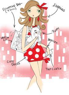 Free Shopaholic Girl Royalty Free Stock Images - 29066649