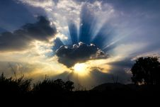 Free Sunset Royalty Free Stock Image - 29066956