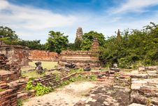 Free Ancient Temple Of Ayutthaya Royalty Free Stock Photo - 29069715