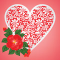Free Rose And Lace Heart Royalty Free Stock Image - 29075546