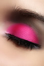 Free Close-up Of Fashion Eyes Make-up, Bright Pink Eyeshadow Stock Photo - 29078210