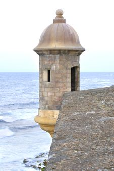 Free Turret At The Fortress Of San Juan Royalty Free Stock Photography - 29073527