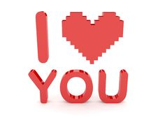 Free Heart And I Love You Text. Royalty Free Stock Photo - 29074485