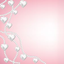 Free Heart Pearl Necklace Royalty Free Stock Photo - 29075335